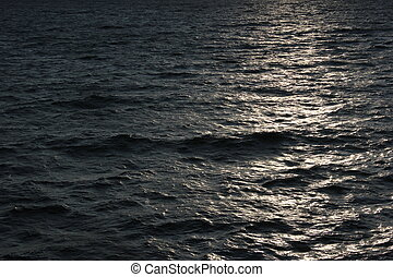Reflections On Sea - Reflections of the sun on the sea.