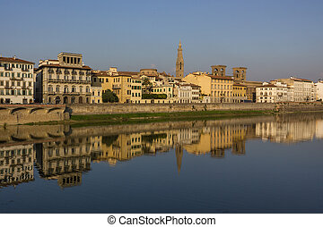 Reflections on the Arno River
