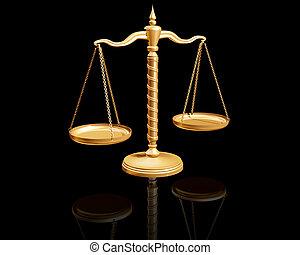 Reflective Balance - Ornate balance with a black background...