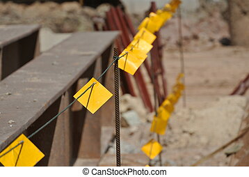 Reflective barricade - Reflector barrier at construction...