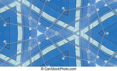 Reflective Building Seamless Pattern 2