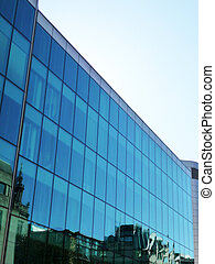 Reflective glass office building in London.