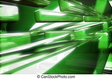 reflective, green, beam
