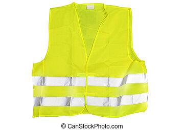 reflective jacket - he image of reflective jacket under the...