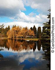 Reflective spring pond