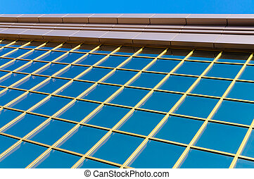Reflective windows of a modern building - Detail of big...