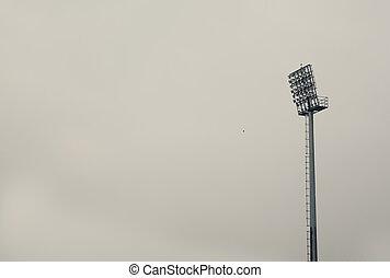 Reflector at the football stadium