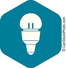 Reflector bulb icon, simple style