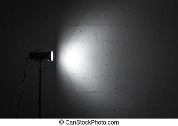 reflector., estúdio foto, strobe, profissional