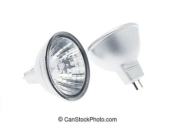 Reflector Halogen Lamps - Reflector Lamps on White...