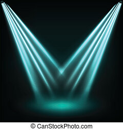Reflector lights - Reflector blue lights eps10