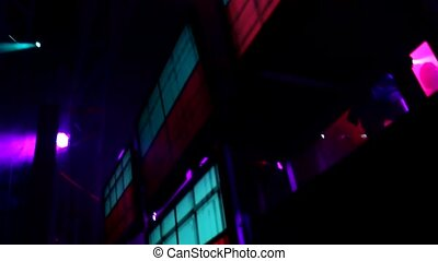 reflector lights  - vj lights on clubbing stage
