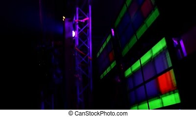reflector lights background, party clubbing on stage