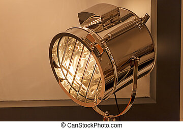 reflector with high brightness, note shalow depth of field