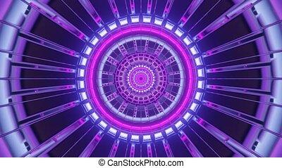 Hypnotic Neon Straight Line Passway 4k uhd 3d rendering vj loop