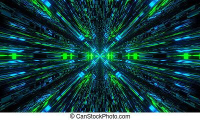 reflectorized, licht, hintergrund, abbildung, geschwindigkeit, zukunft, 3d, uhd, 4k