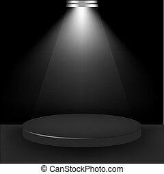 reflektorfény, szoba, bemutatás