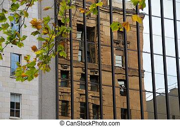 reflet, bâtiment