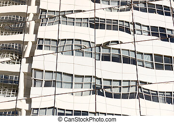 reflet, bâtiment.