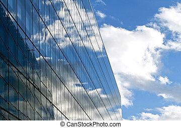 reflet, ciel, horizontal