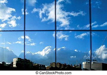 reflet, fenêtre
