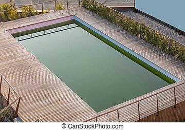 reflet, piscine