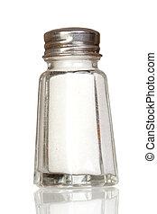 reflet, sel, verre, shaker