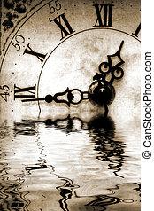 reflexão, de, tempo