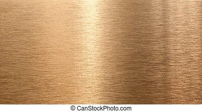 reflexão, luz, textura, alto, qualidade, bronze