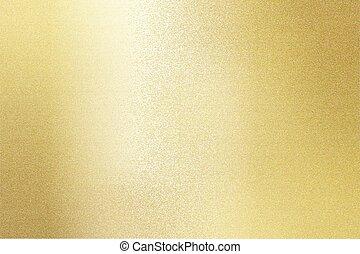 reflexão, ouro, metal, textura, fundo, aço