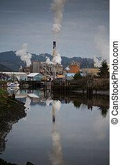 reflexão, poluição