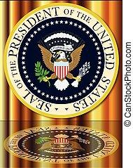 reflexão, presidencial, selo
