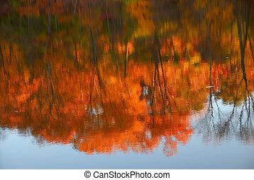 reflexões, de, outono