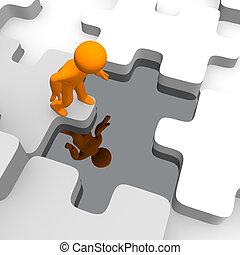 reflexões, e, quebra-cabeças