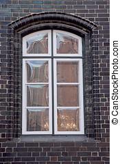reflexões, em, um, janela
