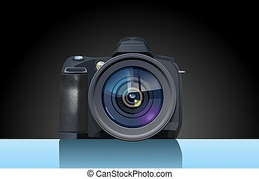 Reflex camera - Vector illustration of digital single-lens ...