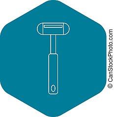 Reflex hammer icon, outline style