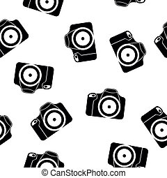 reflex seamless pattern - illustration of reflex camera...