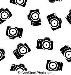 illustration of reflex camera seamless pattern