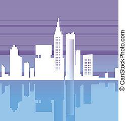 reflexion, cityscape