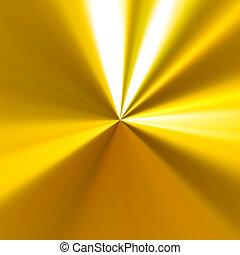 reflexivo, plano de fondo, dorado