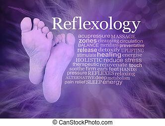 reflexology, 羽, 雲, 紫色, 単語