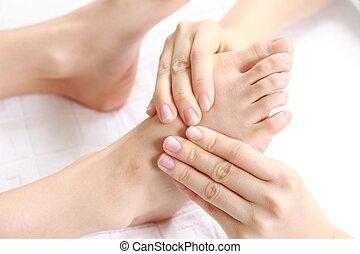 close up shot of a massage at the health spa