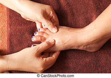 reflexology foot massage, spa foot treatment,Thailand
