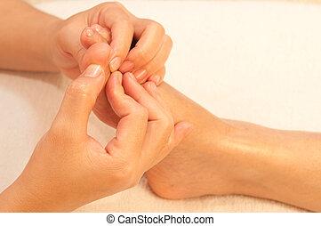 reflexology foot massage, spa foot treatment, Thailand