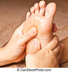 reflexology foot massage, spa foot treatment, Thailand