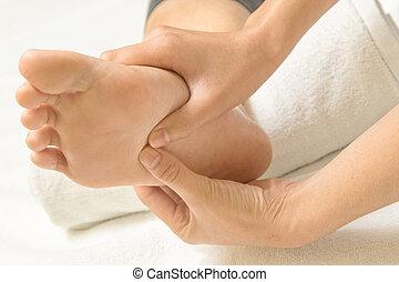 reflexology, fot massera