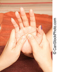 reflexology Hand massage, spa hand treatment, Thailand