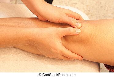 reflexology knee massage, spa knee treatment, Thailand