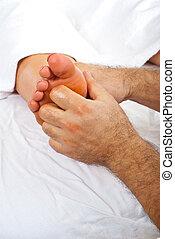 Reflexology woman feet